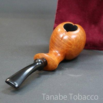 画像1: ツトム ハンドメイドパイプ 薄茶